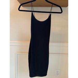 Pretty Little Thing Slinky Black Dress